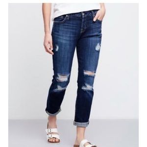 7 For All Mankind Josephina Skinny Jean Distress 6